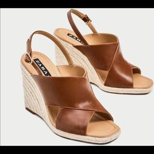 Zara Shoes | Zara Brown Wedges | US 37